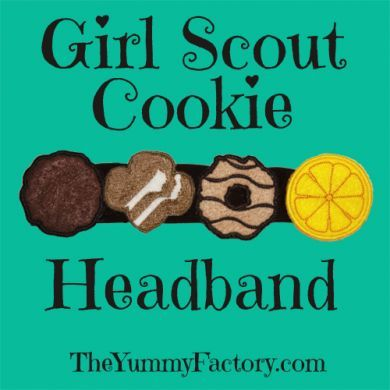 Girl Scout Cookie Headband