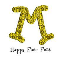 Happy Face Font
