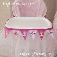 1st Birthday High Chair Banner