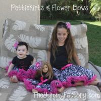 Pettiskirts with flower bows