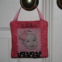 Quilted Fabric Photo Frame Hanger