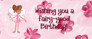 Birthday Flower Fairy Candy Bar Wrapper
