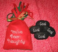 Naughty/ Nice Bags with Coal